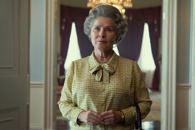 """Alongside the image, The Crown's official Twitter account wrote: """"A first look at our new Queen Elizabeth II, Imelda Staunton""""."""
