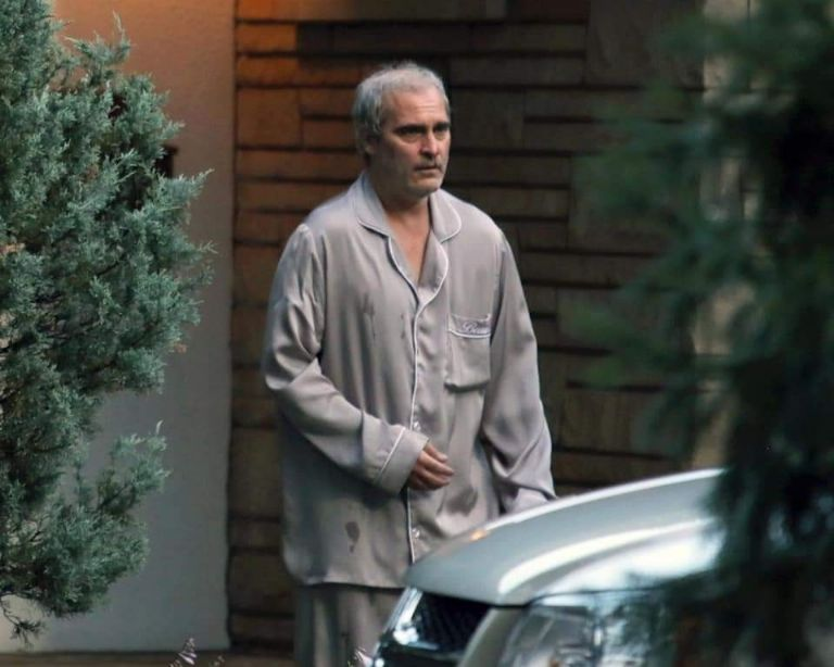 """Joaquin Phoenix is shirtless on the set of his new movie, """"Disappointment Blvd."""""""
