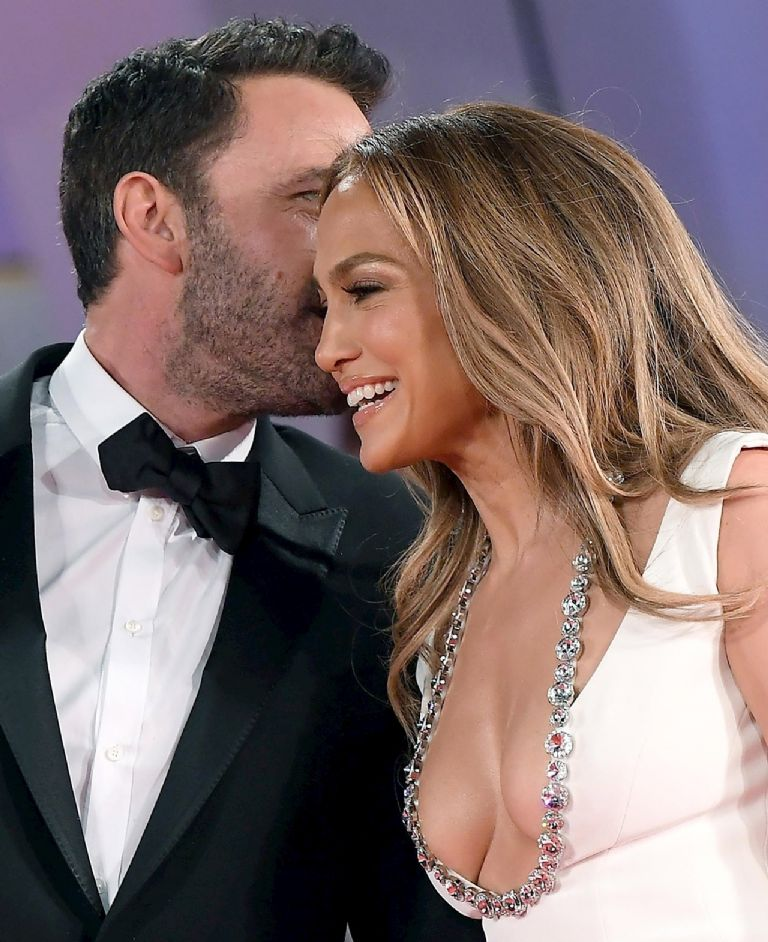 Ben Affleck and Jennifer Lopez arrive for the premiere of 'The Last Duel' during the 78th Venice Film Festival